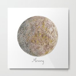 Mercury planet Metal Print