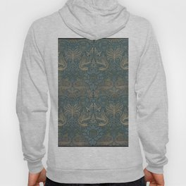 William Morris - Printed Textile Pattern - Peacock and Dragon (1878) Hoody
