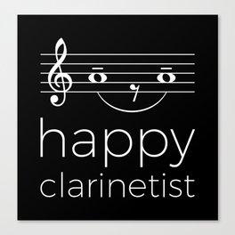 Happy clarinetist (dark colors) Canvas Print
