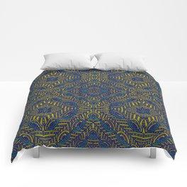 Tile Design Peacock Comforters