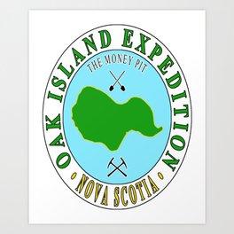 Oak Island Money Pit Expedition Art Print