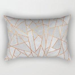 Shattered Concrete Rectangular Pillow