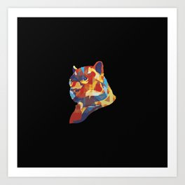 Mozilla Fire Panther Art Print
