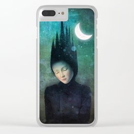 Moonlit Night Clear iPhone Case
