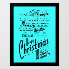 'Twas the Night Before Christmas (Print #2) Art Print