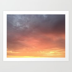 Yellow Red and Gray Sky Art Print