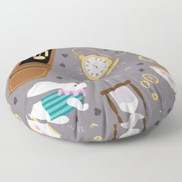 Late For The Party Floor Pillow