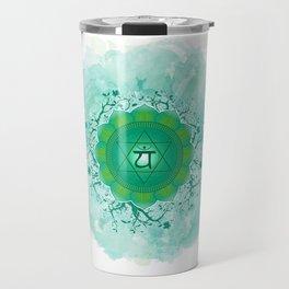 Heart Chakra Art Travel Mug