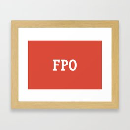 For Placement Only - FPO - Artwork (Google Plus Red) Framed Art Print
