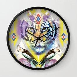 Ethnic tiger art print Wall Clock