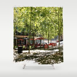 Street Cafes Shower Curtain