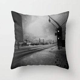 February in Montreal / Montréal en février Throw Pillow