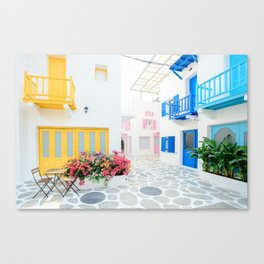 Santorini #decor #buyart #society6 Canvas Print