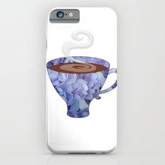 blue hydrangea espresso cup - coffee cup series iPhone 6s Slim Case