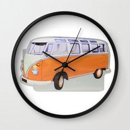 combi orange Wall Clock