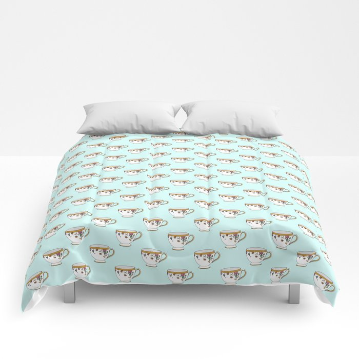 Teacup Pattern Comforters