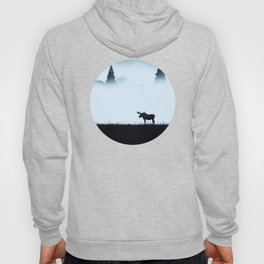 The moose - minimalist landscape Hoody