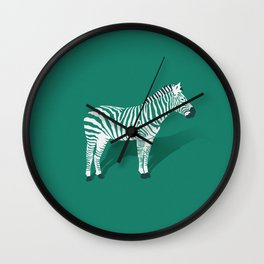 Animal Kingdom: Zebra III Wall Clock