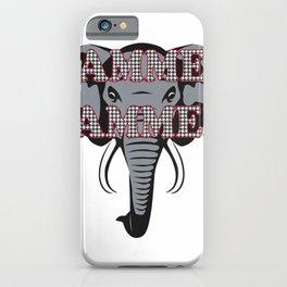 Alabama Rammer Jammer Houndstooth Elephant Tide Football T-Shirt iPhone Case