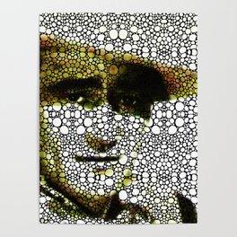 The Duke - A Tribute to John Wayne - Stone Rock'd Art By Sharon Cummings Poster
