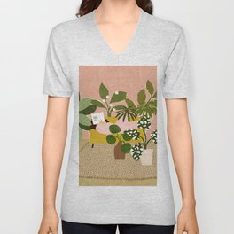 Allow Yourself To Grow Unisex V-Neck