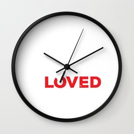 You Are So Deerly Loved Deer Buck Valentines Day Wall Clock