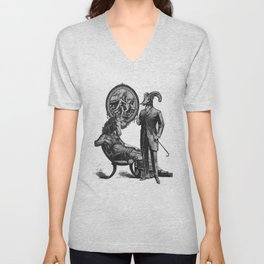 Mountain Sheep Husband & Horse Wife and their Portrait of Eden Unisex V-Neck