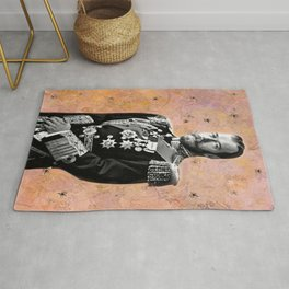 Nik Romanov and Vintage Bees in An Imaginary Meadow Rug