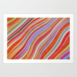 Wild Wavy Lines 09 Art Print