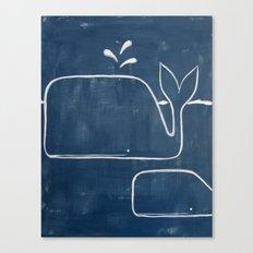 No. 006 - The Whales (Modern Kids & Nursery Art) Canvas Print