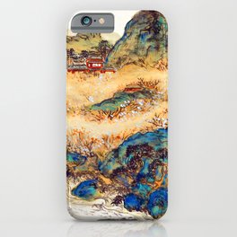 Tomioka Tessai Mountain of Immortals iPhone Case
