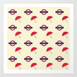 Classic London underground. Art Print