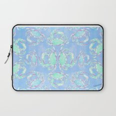 Watercolor blue crab Laptop Sleeve