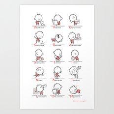 Procrastination Art Print