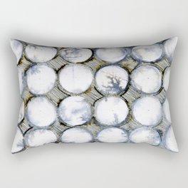 WATERCOLOUR DISCS: White Howlite Rectangular Pillow