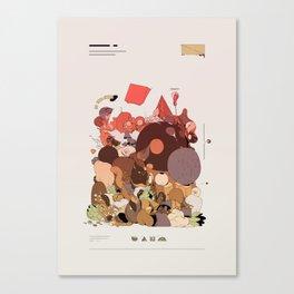 organic infographics Canvas Print