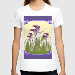 ART NOUVEAU CALLA LILIES PURPLE MODERN ART DESIGN T-shirt