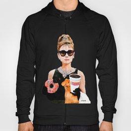 Breakfast at Dunkin Donuts - Audrey Hepburn Hoody
