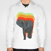 african Hoodies featuring African Elephant by Ben Geiger