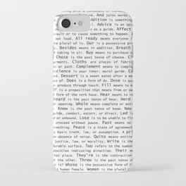 Top Grammar Mistakes From Homonyms: A Unique Gift for Writers and Editors (Black Text on White) iPhone Case
