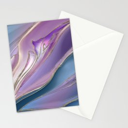 Serenity Flow abstract Stationery Cards