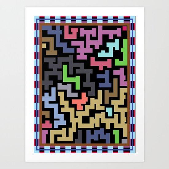 Colorful Maze III Art Print