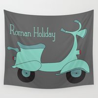 roman Wall Tapestries featuring Roman Holiday by Halamo
