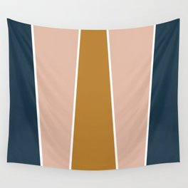 Retro Autumn Color Block Wall Tapestry