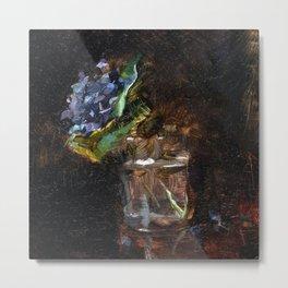 Henri de Toulouse Lautrec Bouquet of Violets in a Vase Metal Print