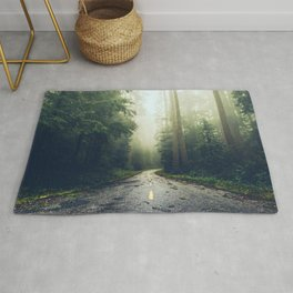 Redwood Forest Adventure - Nature Photography Rug