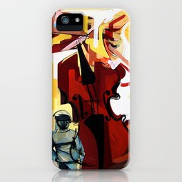 Expressive Cello People Painting iPhone Case