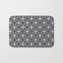 Circles Graphite Gray Bath Mat