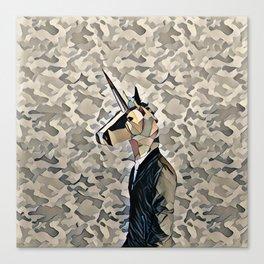 Army unicorn Canvas Print