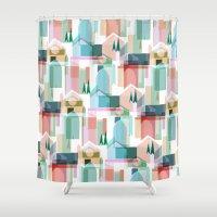 bath Shower Curtains featuring Bath by Coral Elizabeth Design